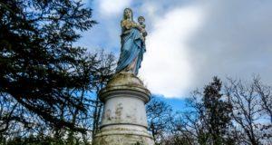 randonnée de Mercues statue de la Vierge