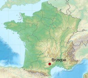 Brusque carte de localisation