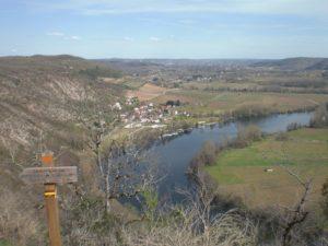 Caïx vue sur la vallée du Lot